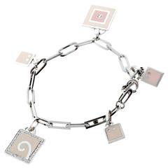 La Nouvelle Bague Diamond Gold Charm Bracelet