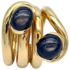 """Claris A"" Black Star Sapphire Gold Ring"