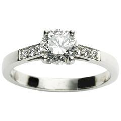 1.04 Carat GIA Cert Diamond Platinum Solitaire Ring