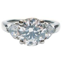 Graff 1.61 Carat Round Brilliant Diamond Platinum Ring GIA