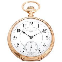 Vacheron Constantin Yellow Gold Manual Wind Pocket Watch