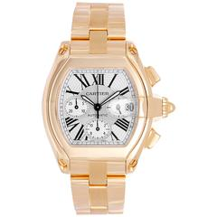 Cartier Yellow Gold Roadster Chronograph Automatic Wristwatch