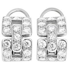Tiffany & Co. Diamond Platinum Earrings