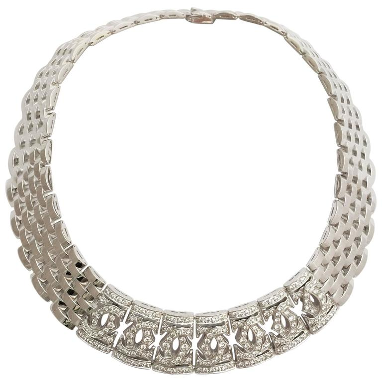 Cartier Wide Panther Diamond Gold Necklace At 1stdibs. Curb Chain Silver. Diy Chain Bracelet. Knotted Bracelet. Grey Diamond. Proposal Wedding Rings. Marquise Diamond. Grandma Necklace. Gemstone Earrings