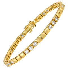 2.15 Carat Diamond Gold Tennis Bracelet
