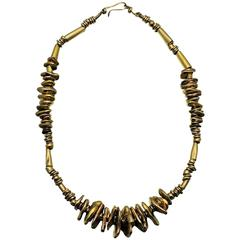 Velma David Dozier Artist Made Gold Necklace