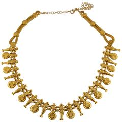 Gold Vermeil Filigree Necklace