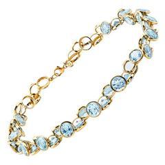 Copacabana Blue Topaz Gold Necklace