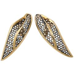 Marilyn Cooperman Leaf Earrings