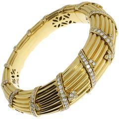 Cartier Gorgeous Diamond Gold Bangle Bracelet