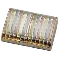 Triple Gold Dual Compartment Pill Box