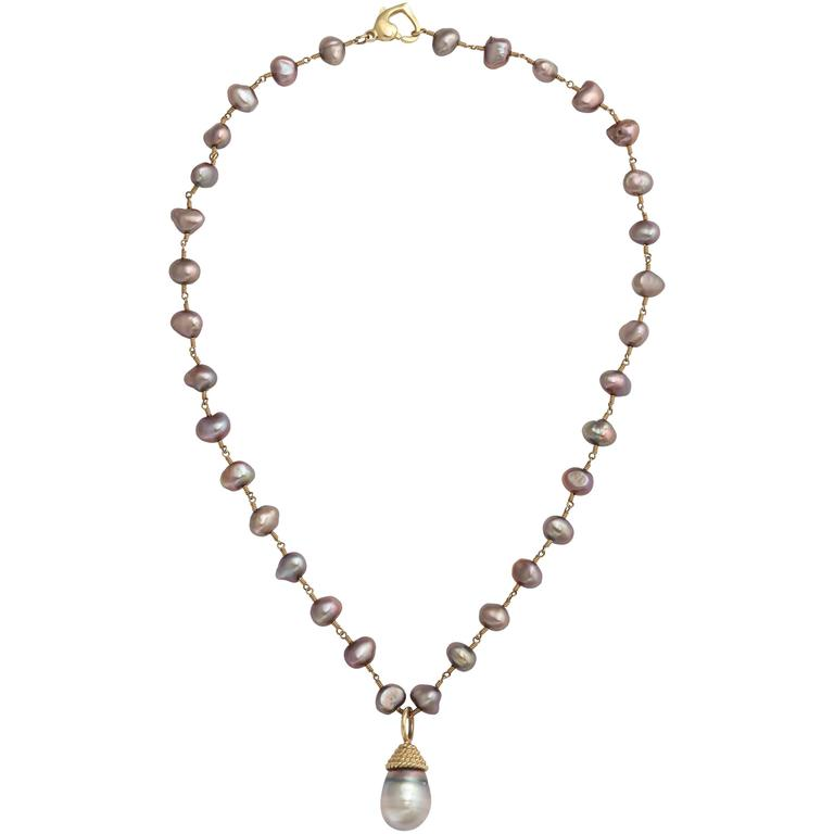 Lovely Gray Tahitian Pearl Pendant Necklace