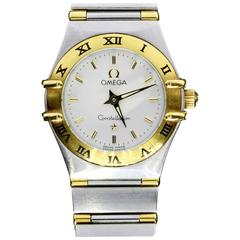 Omega Lady's Yellow Gold Stainless Steel Constellation Quartz Wristwatch