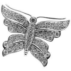 Tiffany & Co. Diamond Platinum Butterfly Pin Brooch