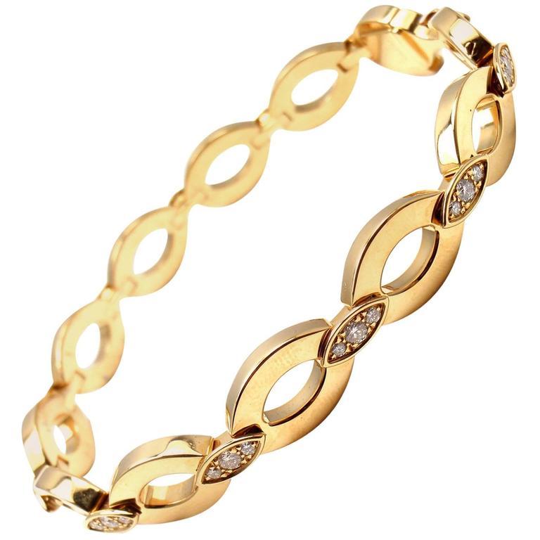 Cartier Diamond Gold Diadea Link Bracelet