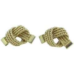 Tiffany & Co. Gold Love Knot Rope Earrings