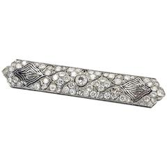 Unusual Art Deco Diamond Platinum Brooch