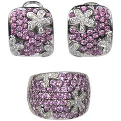 CRISTINA FERRARE Pink Tourmaline and 18KT White Gold with Diamonds Set