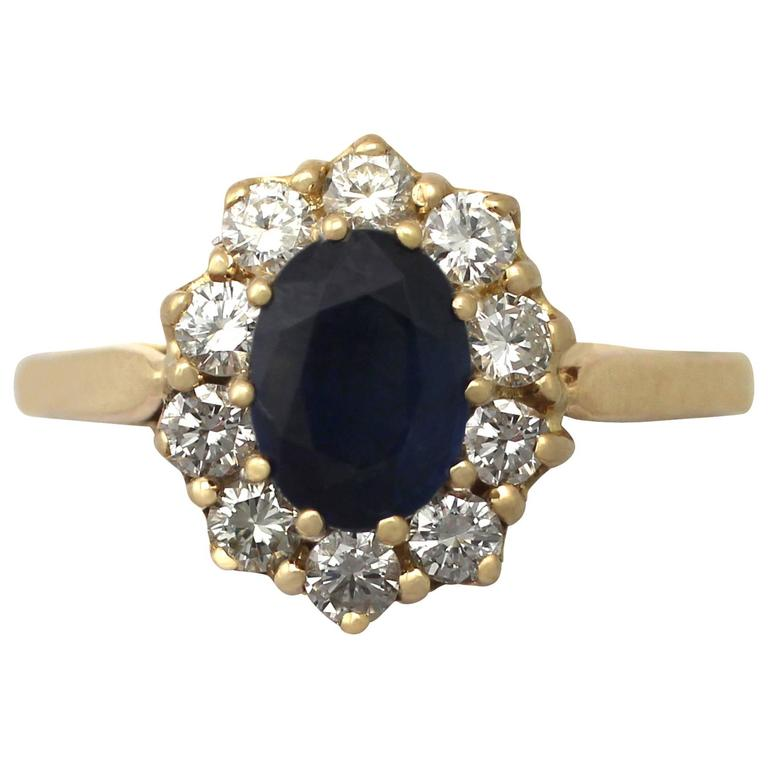 media yellow vintage blue sapphires ring deco sapphire carat cocktail white art gold