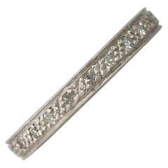 1950s 0.27 Carat Diamond and Platinum Full Eternity Ring