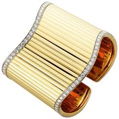 Vergano Diamond Gold Cuff Bracelet