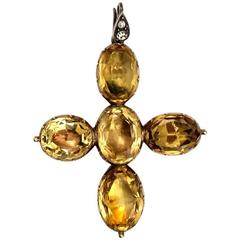 Topaz Gold Cross