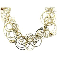 Orlandini Gold Multiple Ring Necklace