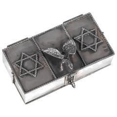 Antique Jewish Russian Silver Travelling Hanukkah