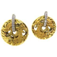 Carrera & Carrera Diamond Gold Shanghai Earrings