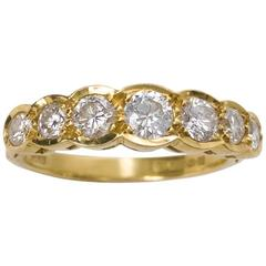 0.94 Carat Diamond Gold Half Eternity Ring London