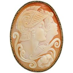 Amedeo Soldiers Cameo Brooch and Pendant