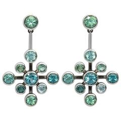 Colleen B. Rosenblat Tourmaline Gold Earrings