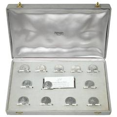 Hermes Silver Menu Place Card Holders