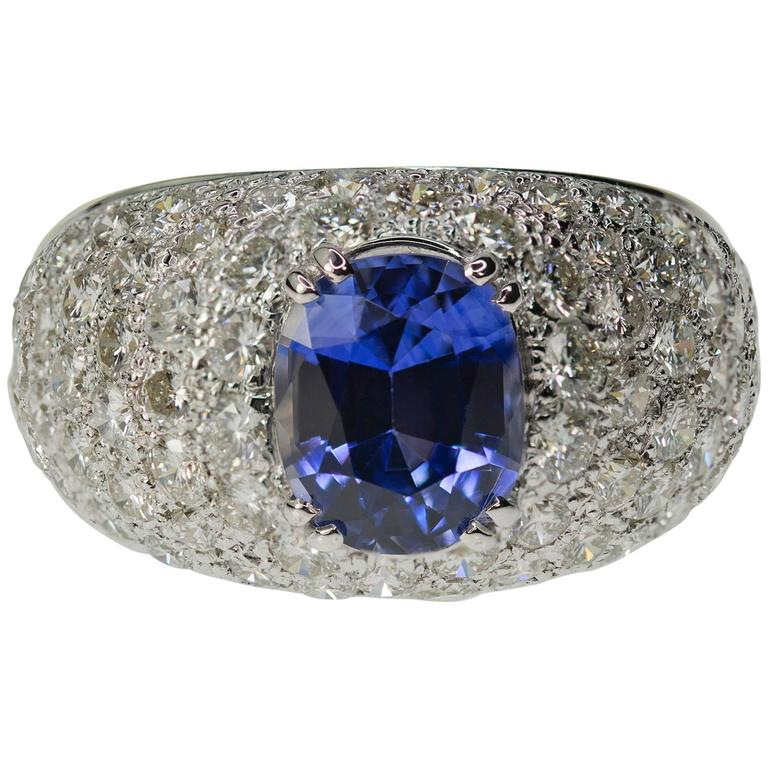 Keith Davis Sapphire Pave Diamond Gold Ring