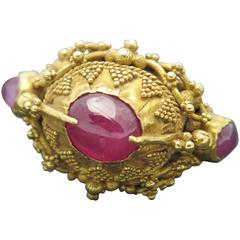 Balinese Ruby Gold Ring