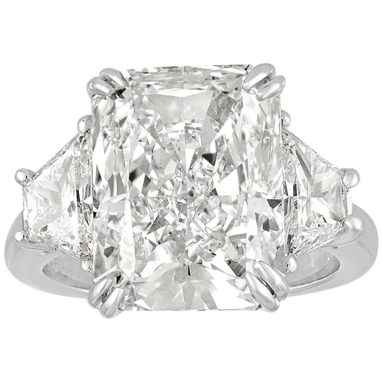 9.32 Carat GIA Certified Diamond Platinum Ring