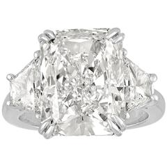 9.32 Carat GIA Certified Diamond Platinum Ring