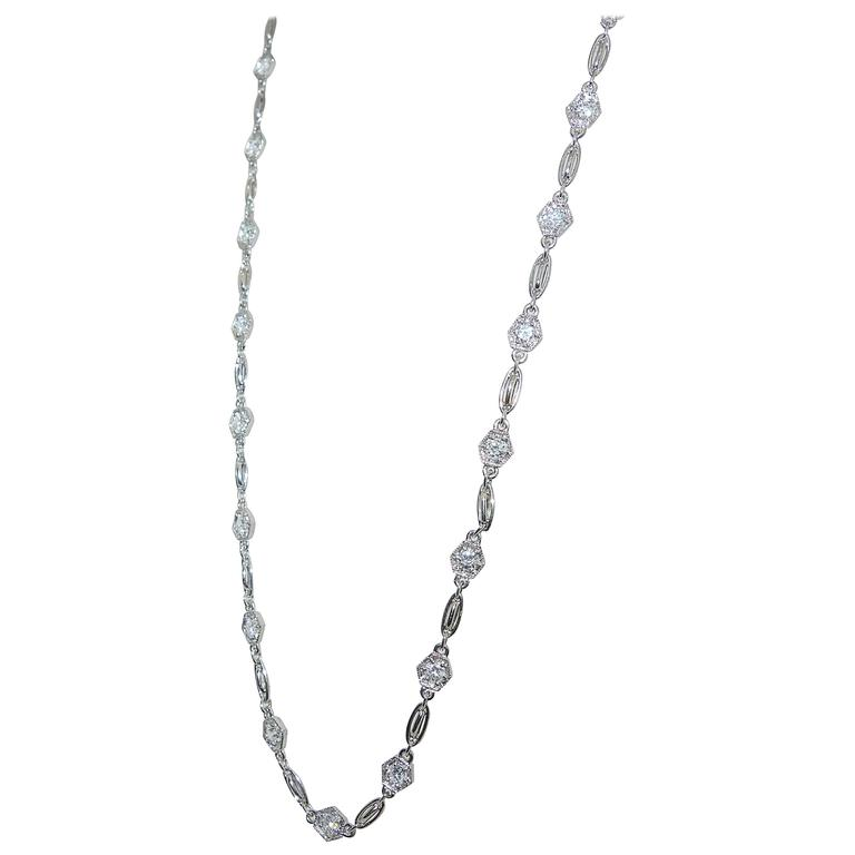 Diamond Platinum Necklace Chain