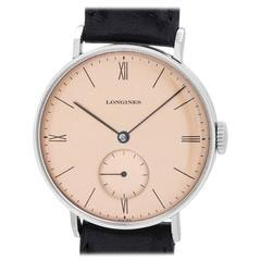 Longines Stainless Steel Manual Wind Dress Wristwatch