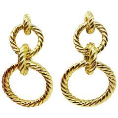 David Yurman Gold Cable Earrings