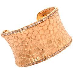 Gert Helmuth Splendor Collection Diamond Gold Cuff Bracelet