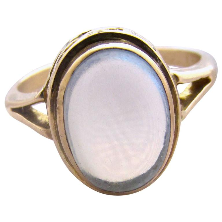 Antique Moonstone Gold Ring 1