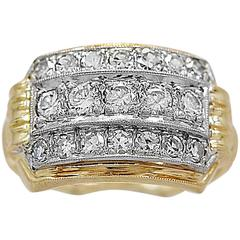 Antique .50 Carats Diamonds Gold Palladium Fashion Ring