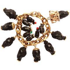 Italian Blackamoor Charms Bracelet