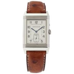 Jaeger LeCoultre Stainless Steel Night and Day Duoface Reverso Wristwatch