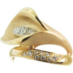 Anna Maria Cammilli Gold Calla Ring