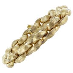 Brushed Gold Rolo Link Bracelet