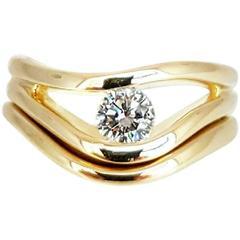 0.40 Carat GIA Cert Diamond Gold Ring