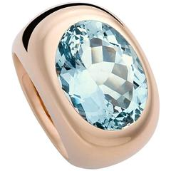 Colleen B. Rosenblat 8.28 Carat Aquamarine Gold Ring