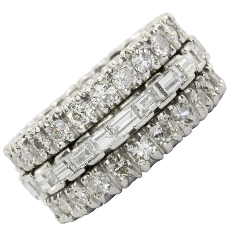 4 Carat Diamond & Platinum Eternity Band 1